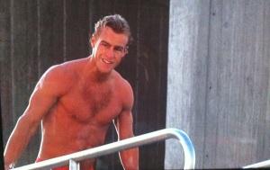 Steve Lyon shirtless speedo