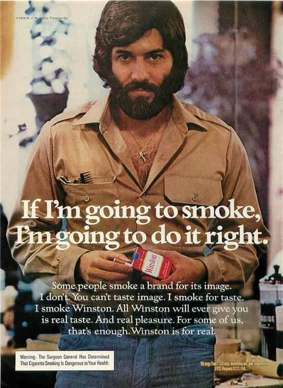 One Assumes He Will Smoke On A Bearskin Rug, Posed Like Burt Reynolds In  Cosmo