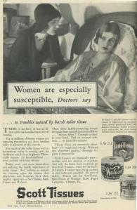 vintage toilet paper ad