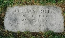 Lillian Roth gravestone
