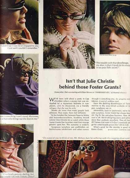 Julie Christie Foster Grants