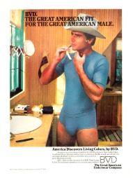 BVD cowboy vintage 1980s ad2
