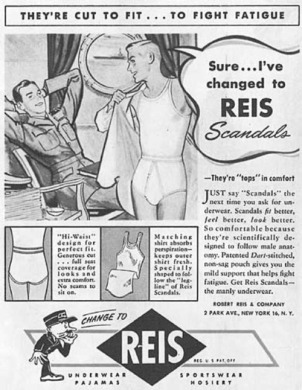 Homoerotic Reis Scandals vintage mens underwear ad1