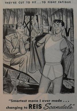 Homoerotic Reis Scandals vintage mens underwear ad2